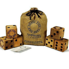 Solid Wood Yard Dice - Spots on a Leopard