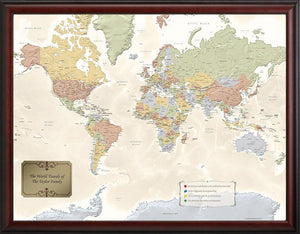 Original Personalized World Traveler Map™