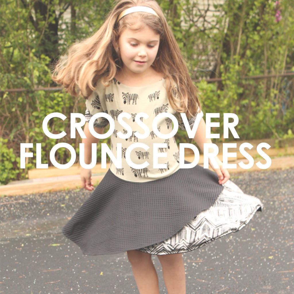CrossOver Flounce Dress