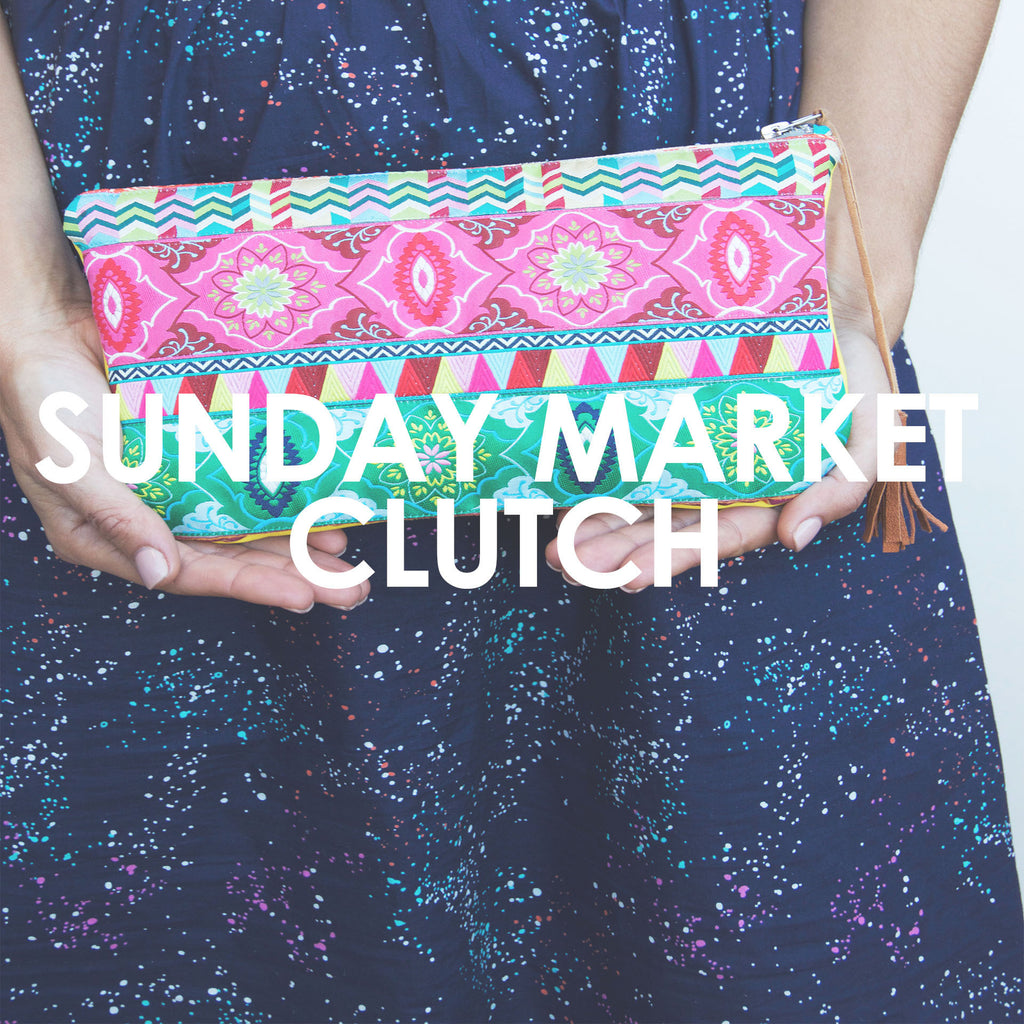 Sunday Market Clutch