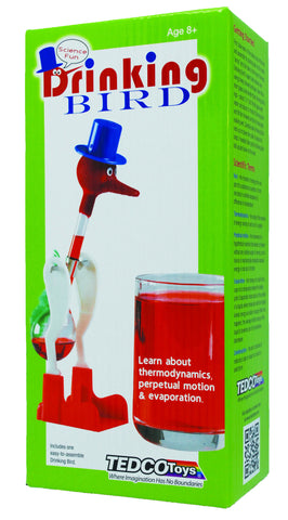 Drinking Bird (Can Keep Drinking for Days!) (Glass - NOT a Toy) Novelty - Science & Engineering Toy