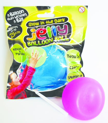Glow-in-the-Dark Jelly Balloon Ball Novelty - Science & Engineering Toy