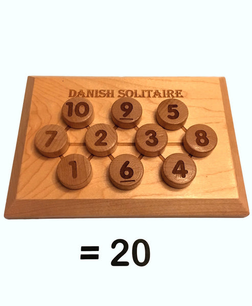 Math Puzzle - Danish Solitaire (Looks Great on a Coffee Table!) Math puzzle - Science & Engineering Toy