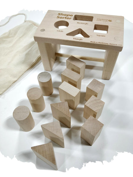 Shape Sorter Bench (Premium) (Made in USA) Math Games and Puzzles - Science & Engineering Toy