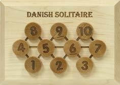 Math Puzzle - Danish Solitaire (Looks Great on a Coffee Table!)