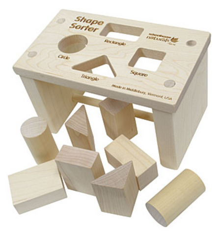 Shape Sorter Bench (Premium) (Made in USA)