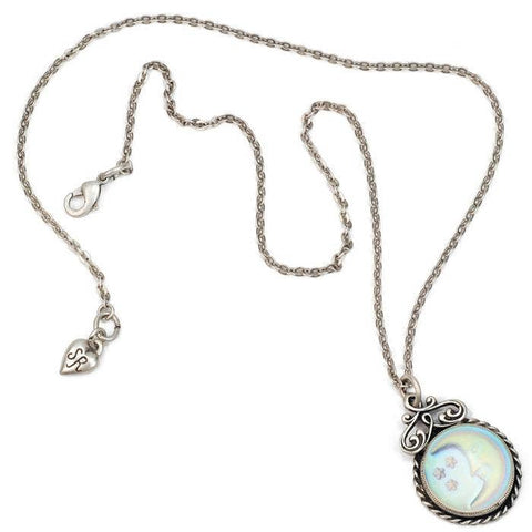 Iridescent Moon Necklace by Sweet Romance Jewelry