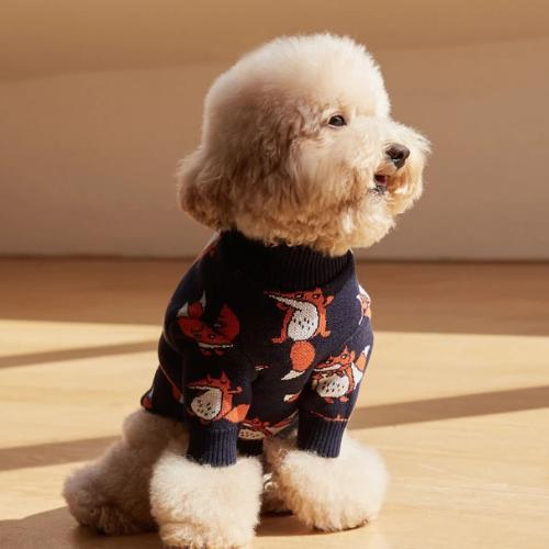 Captain Fox Navy Sweater - Sir Dogwood