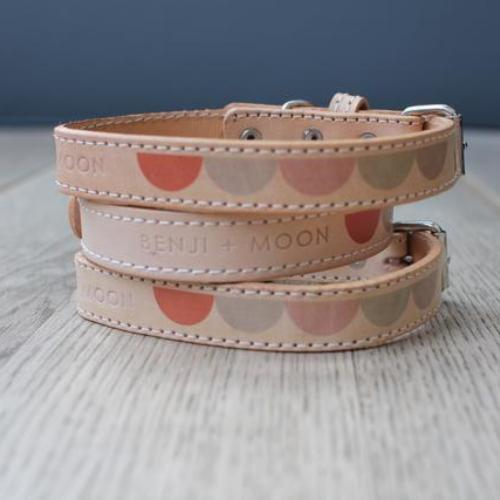Pastel Moon Leather Collar