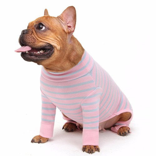 Pink & Sky All-In-One Striped Onesie - Sir Dogwood