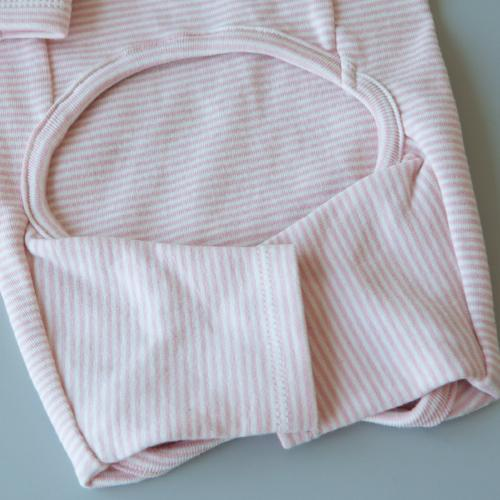 Striped Baby Onesie Pink