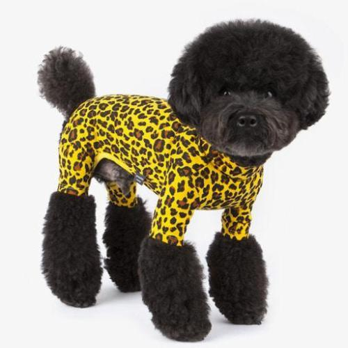 Leopard Print Yellow Onesie - Sir Dogwood