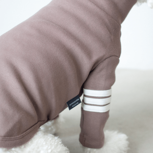 Stripe Point Turtleneck Mocha