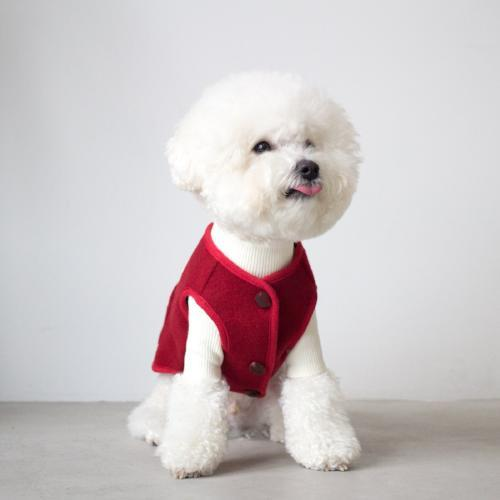 Solid Wool Red Vest - Sir Dogwood