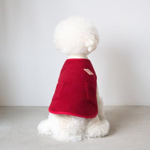 Solid Wool Red Vest