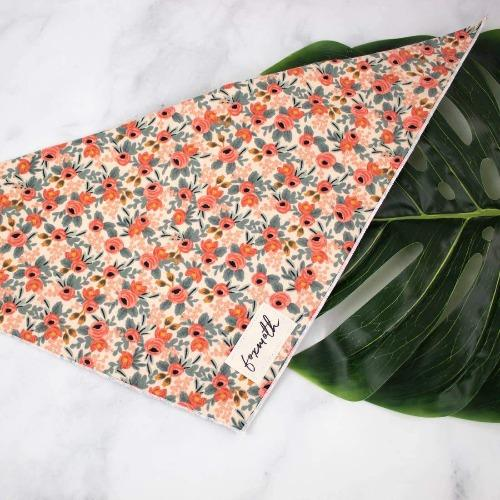 Peach Floral Bandana - Sir Dogwood