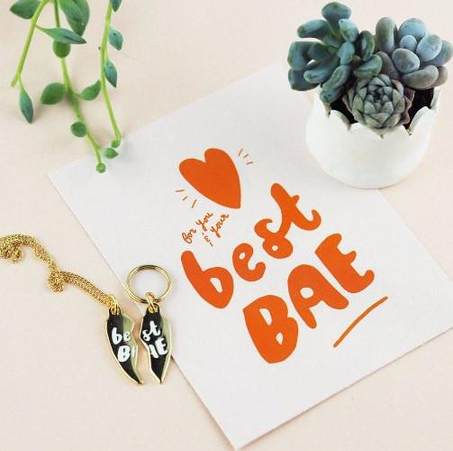Best Bae BFF & Collar Charm (Without Necklace Chain) - Sir Dogwood
