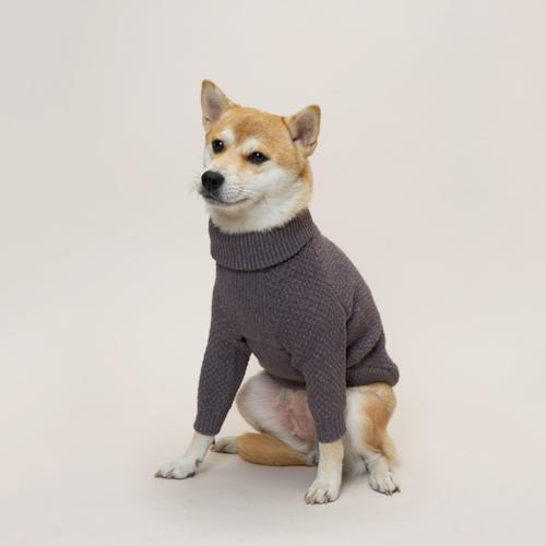 High Neck Violet Sweater - Sir Dogwood