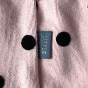 Flocking Dot Dress Pink