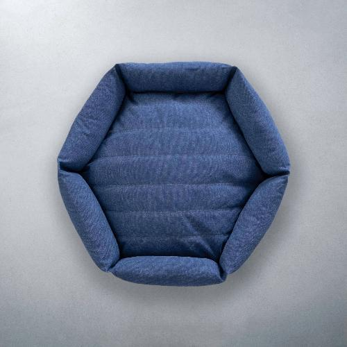 Canvas Hex Cushion - Ocean - Sir Dogwood
