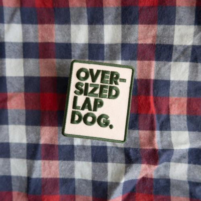 Oversized Lap Dog Merit Badge - Sir Dogwood