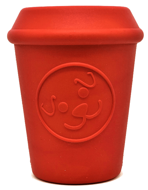 Coffee Cup Treat Dispenser Red - Sir Dogwood