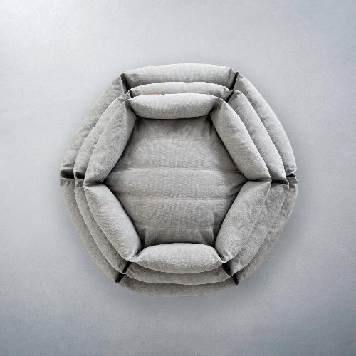 Hex Cushion - Stone