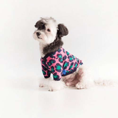 Leopard Cardigan Sweater Pink - Sir Dogwood