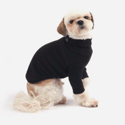 Daily Ribbed Turtleneck Top Black - Sir Dogwood