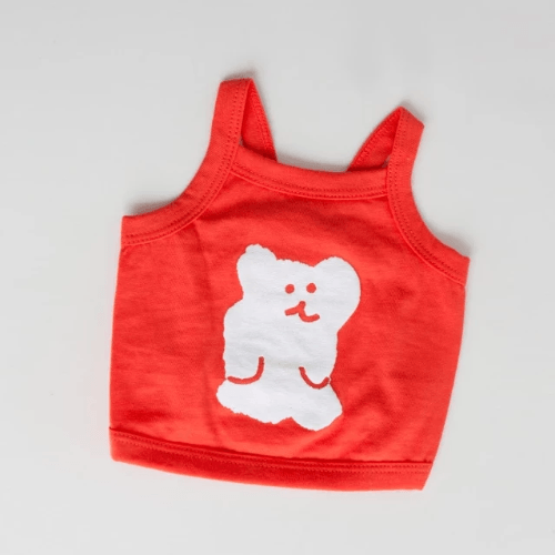 Bobo Bear Tank Top Berry - Sir Dogwood