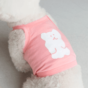 Bobo Bear Tank Top Peach - Sir Dogwood