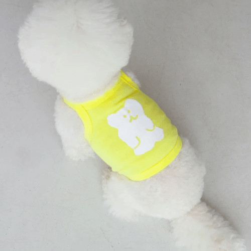 Bobo Bear Tank Top Yellow - Sir Dogwood