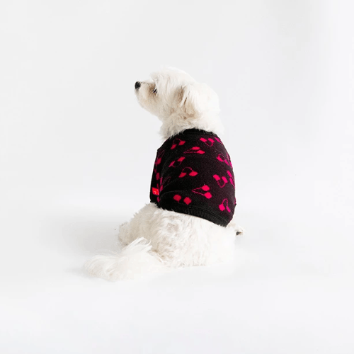 Cherry Cardigan Sweater Black - Sir Dogwood