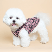 Leopard Padded Vest Pink - Sir Dogwood