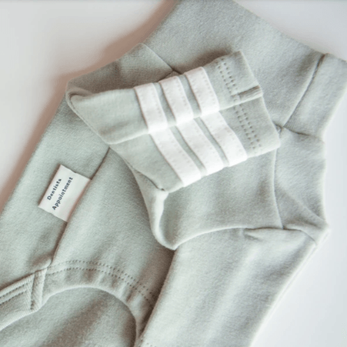 Stripe Point Turtleneck Mint
