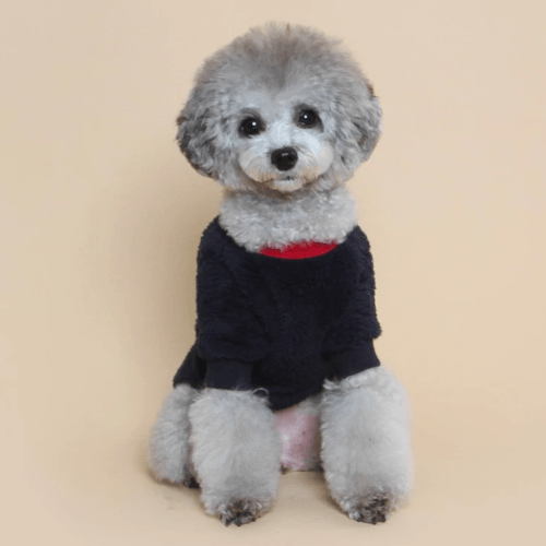 Teddy Fleece Sweater Navy