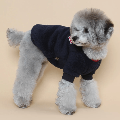 Teddy Fleece Sweater Navy - Sir Dogwood