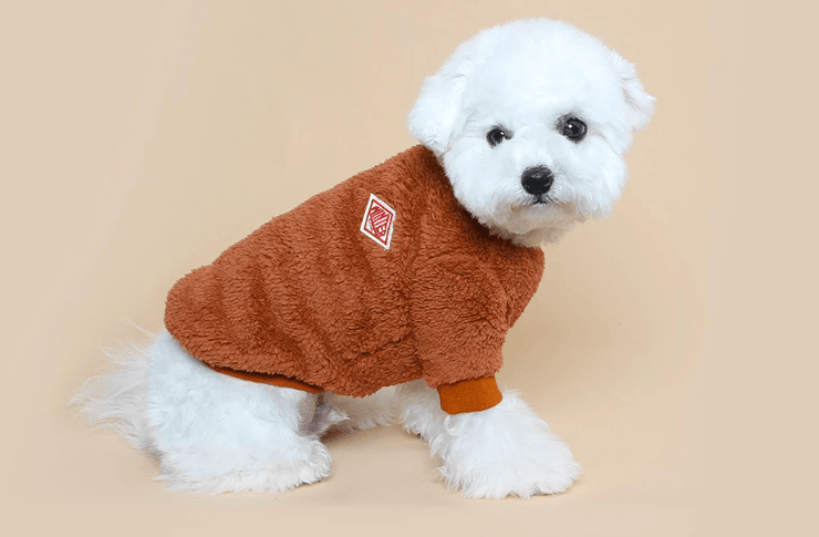 Teddy Fleece Sweater Brown - Sir Dogwood