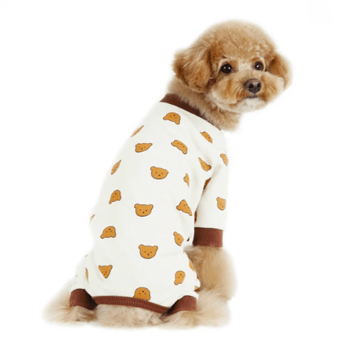 Teddy Bear Onesie Ivory - Sir Dogwood
