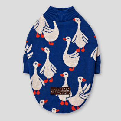 Flying Duck Blue Sweater - Sir Dogwood