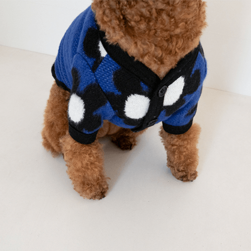 Daisy Cardigan Blue - Sir Dogwood
