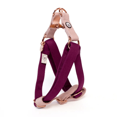 Plum Rose Step In Harness - Sir Dogwood