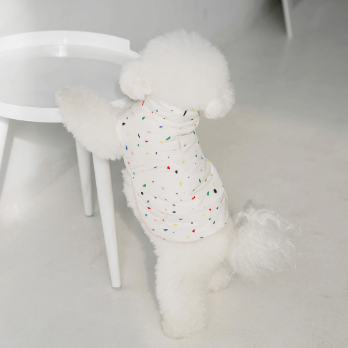 Jellybean Padded Vest White - Sir Dogwood