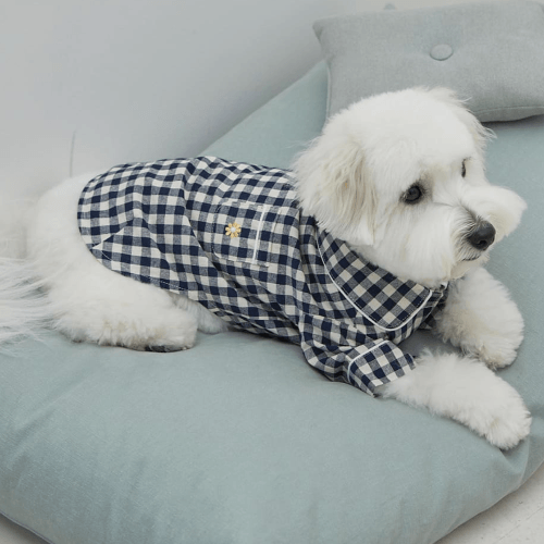 Check Pajamas Navy - Sir Dogwood