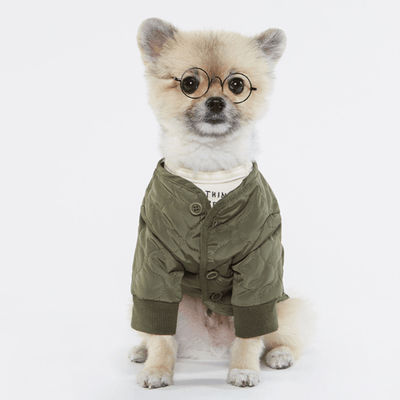 Army Quilted Blazer Green - Sir Dogwood