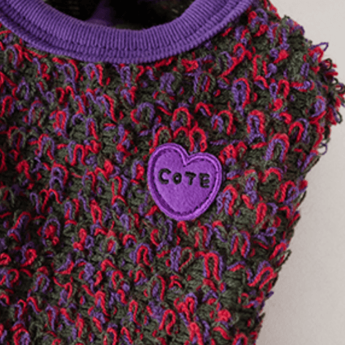 Boucle Cardigan Plum - Sir Dogwood