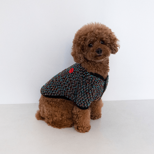 Boucle Cardigan Black - Sir Dogwood