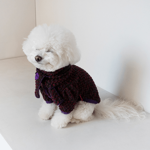 Boucle Scarf Plum - Sir Dogwood