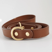 Leather Leash Brown - Sir Dogwood