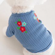Floral Embroidered Cardigan Blue - Sir Dogwood